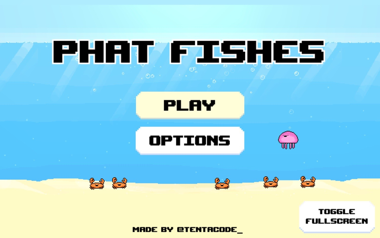 Phat Fishes title screen